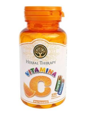 Vitamina C 100mg cu glucoza si portocala, Herbal Therapy, 120 tablete