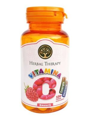 Vitamina C 100mg cu glucoza si zmeura, Herbal Therapy, 120 tablete